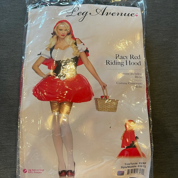 Red Riding Hood Costume. Size XS.